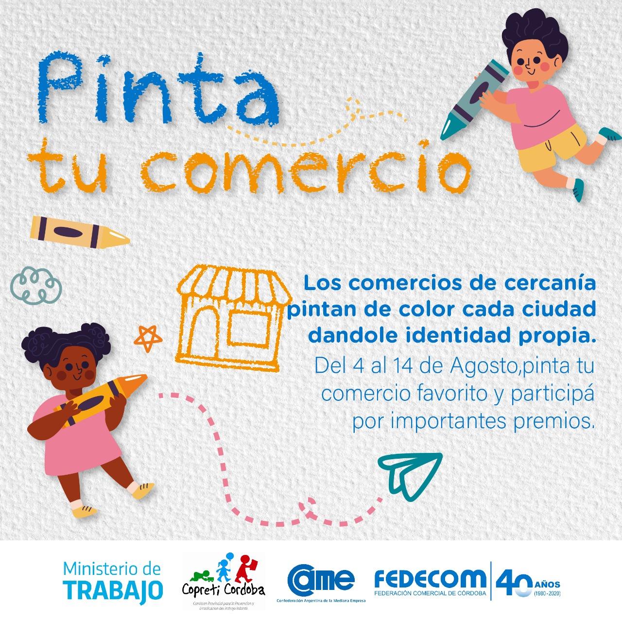 """Fedecom lanza """"Pintá tu comercio"""", una campaña destinada a concientizar sobre los Derechos de la Infancia"""