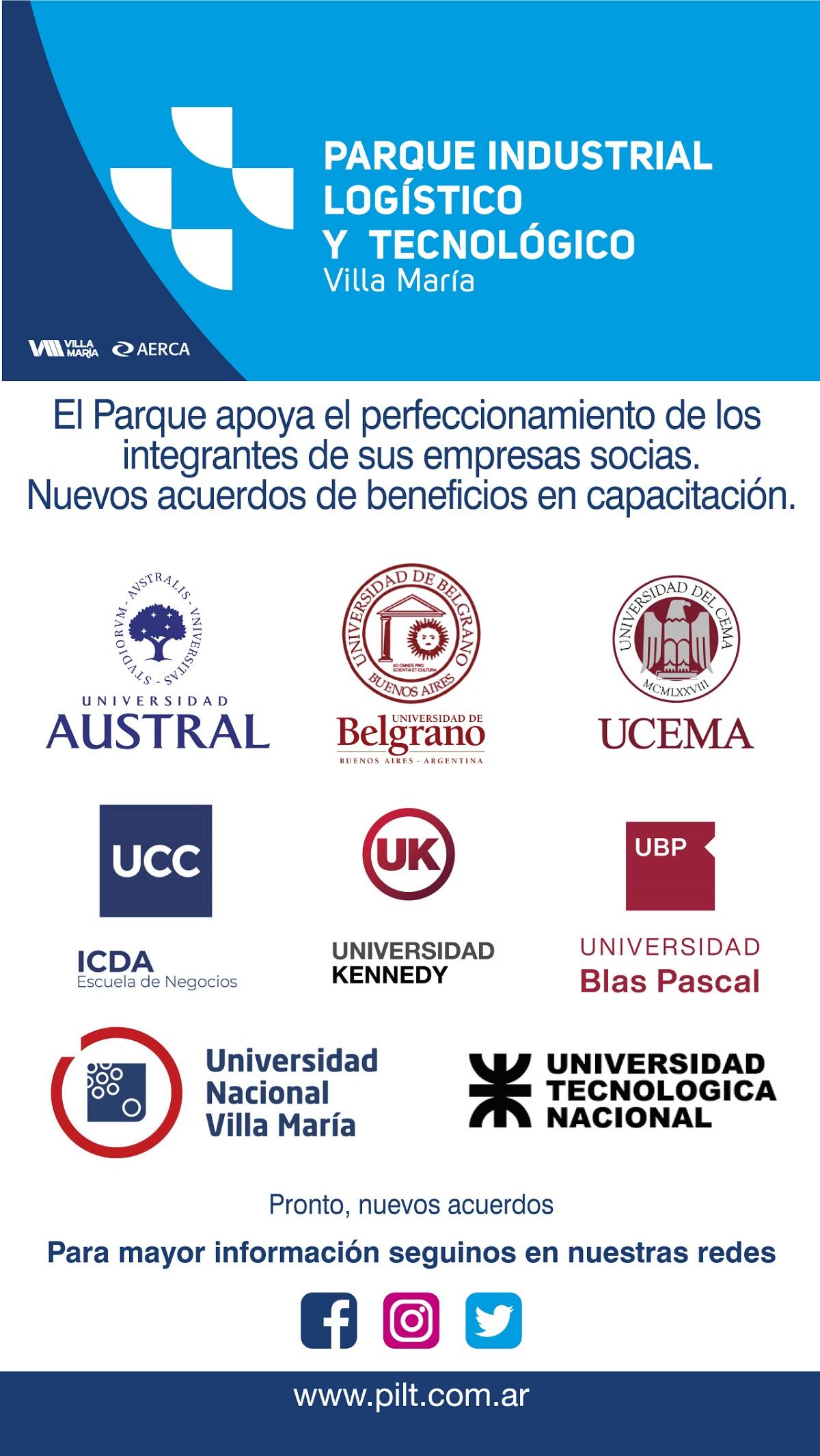 Parque Industrial firmó convenios con universidades por capacitación